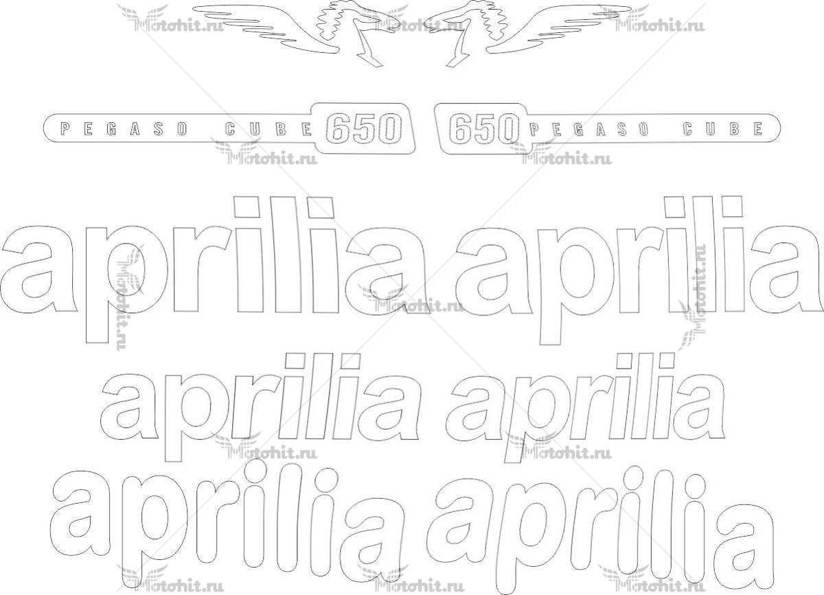 Комплект наклеек Aprilia PEGASO-650