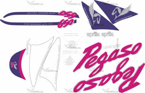 Комплект наклеек Aprilia PEGASO-650 1995