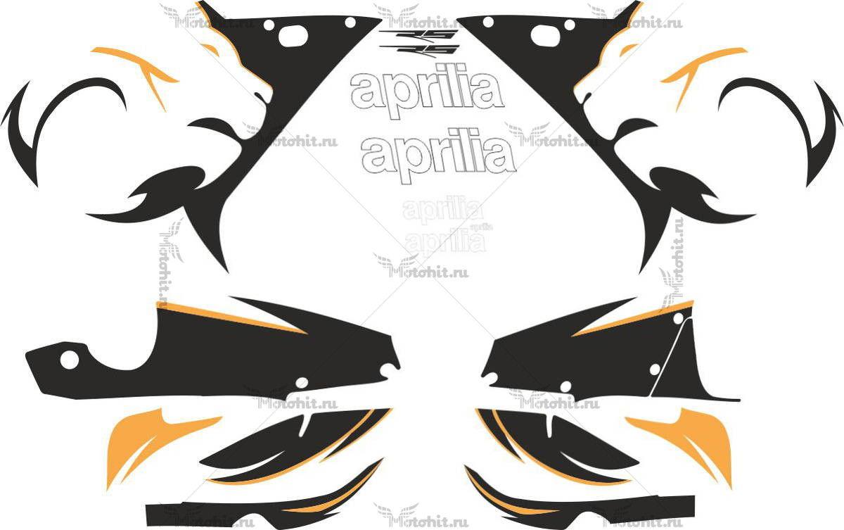 Комплект наклеек Aprilia RS-50 RS-125 2005 BLACK