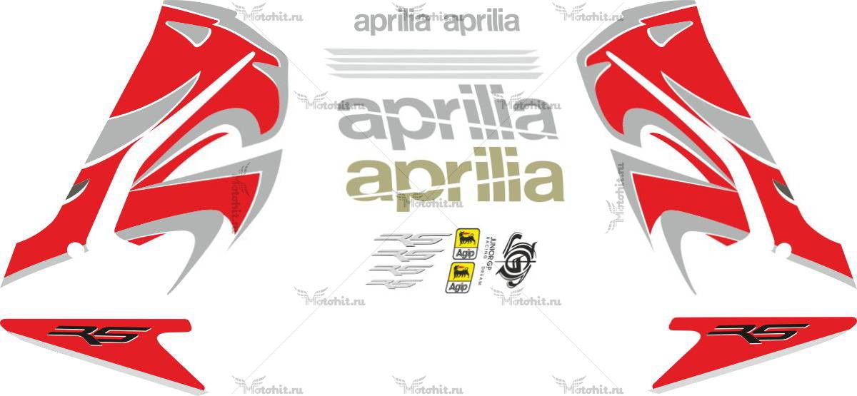 Комплект наклеек Aprilia RS-50 RS-125 2008