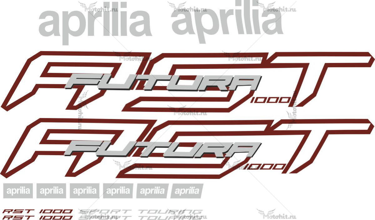 Комплект наклеек Aprilia RST-1000 FUTURA 2001-2004 RED