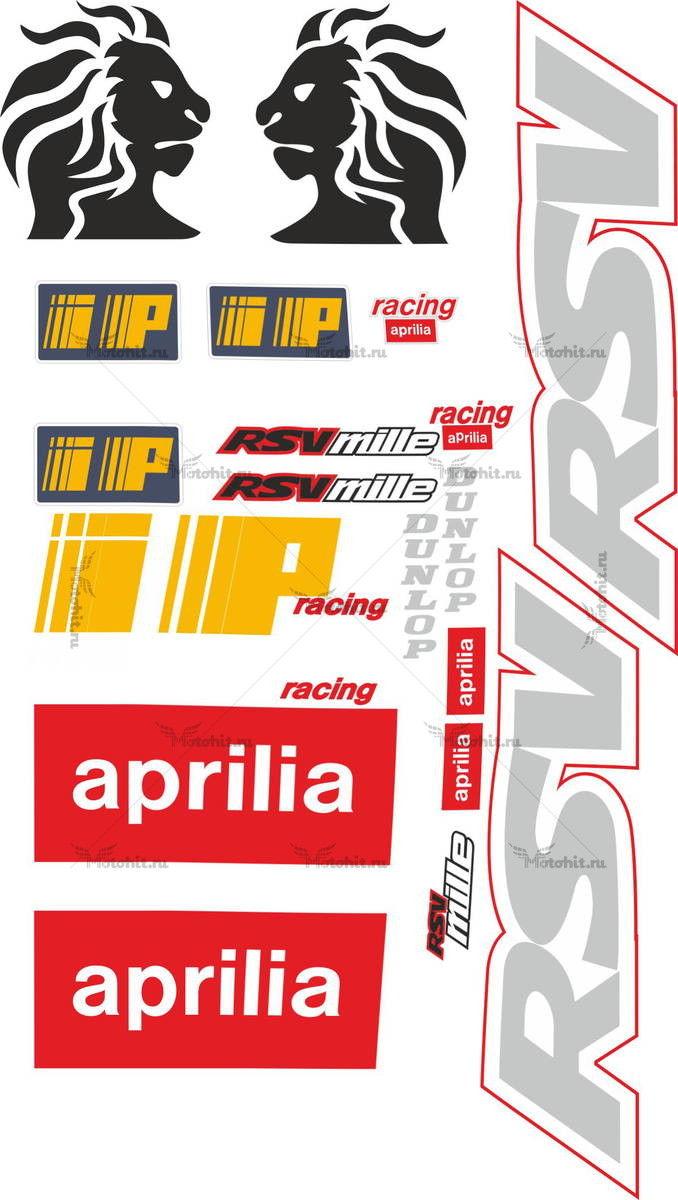 Комплект наклеек Aprilia RSV-MILLE