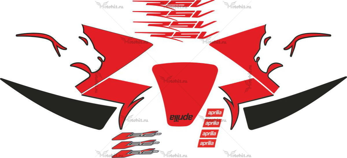 Комплект наклеек Aprilia RSV-MILLE 2007
