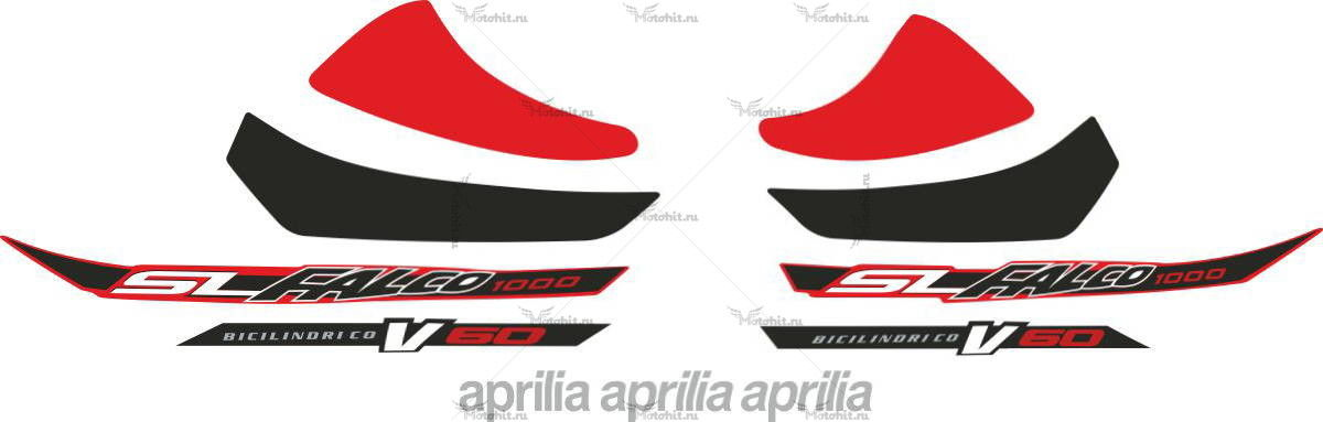 Комплект наклеек Aprilia SL-1000-FALCO 2003 BLACK