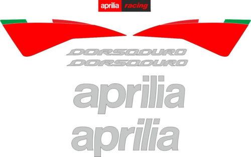 Комплект наклеек Aprilia SMV-750 DORSODURO 2007-2012 RED