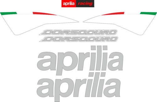 Комплект наклеек Aprilia SMV-750 DORSODURO 2007-2012 WHITE