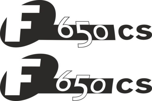 Комплект наклеек BMW F-650-CS 2003 INVERSE