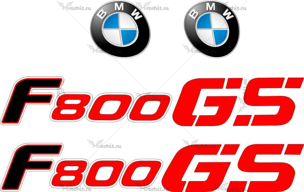 Комплект наклеек BMW F-800-GS 2010-2011