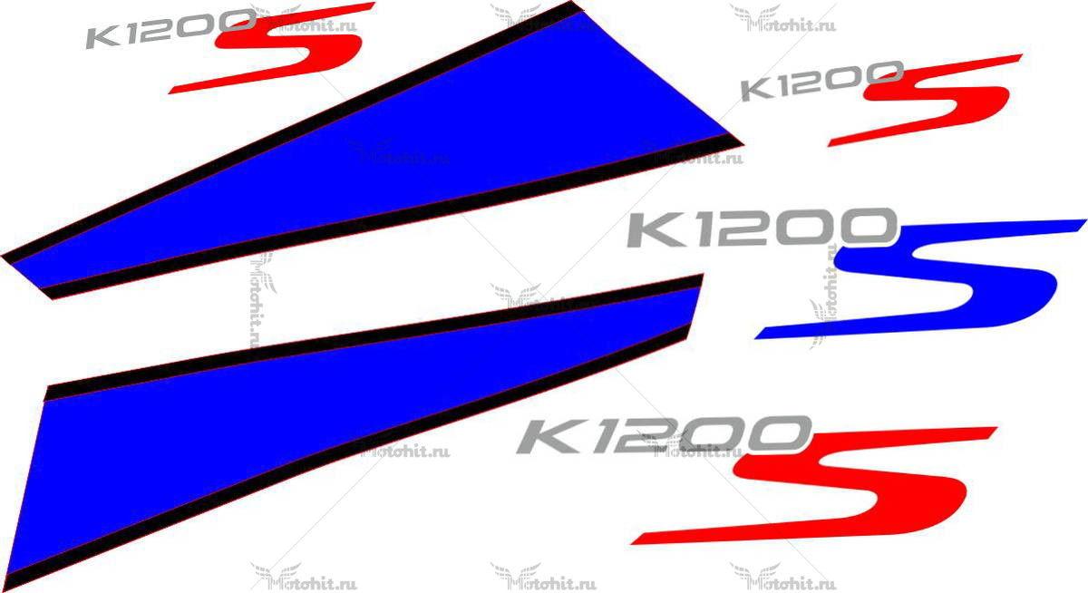 Комплект наклеек BMW K-1200-S 2007-2010