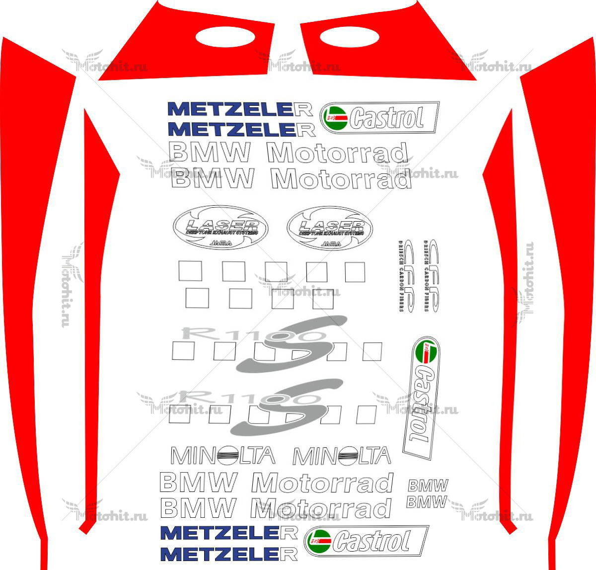 Комплект наклеек BMW R-1100-S Boxer-Cup 2004