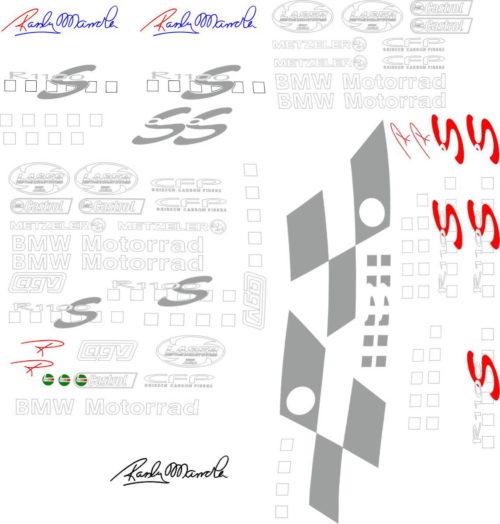 Комплект наклеек BMW R-1100-S 2000+ Randy-Mamola-Boxer CUP