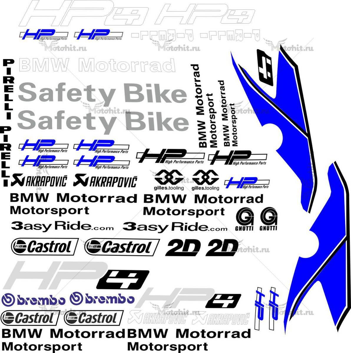 Комплект наклеек BMW S-1000-RR 2012 MOTORRAD-HP