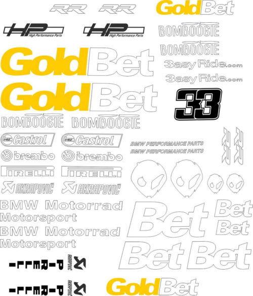 Комплект наклеек BMW S-1000-RR GOLDBET