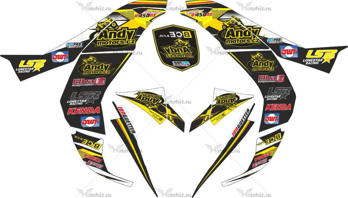 Комплект наклеек CAN-AM DS-450 MX-ANDYMOTORS