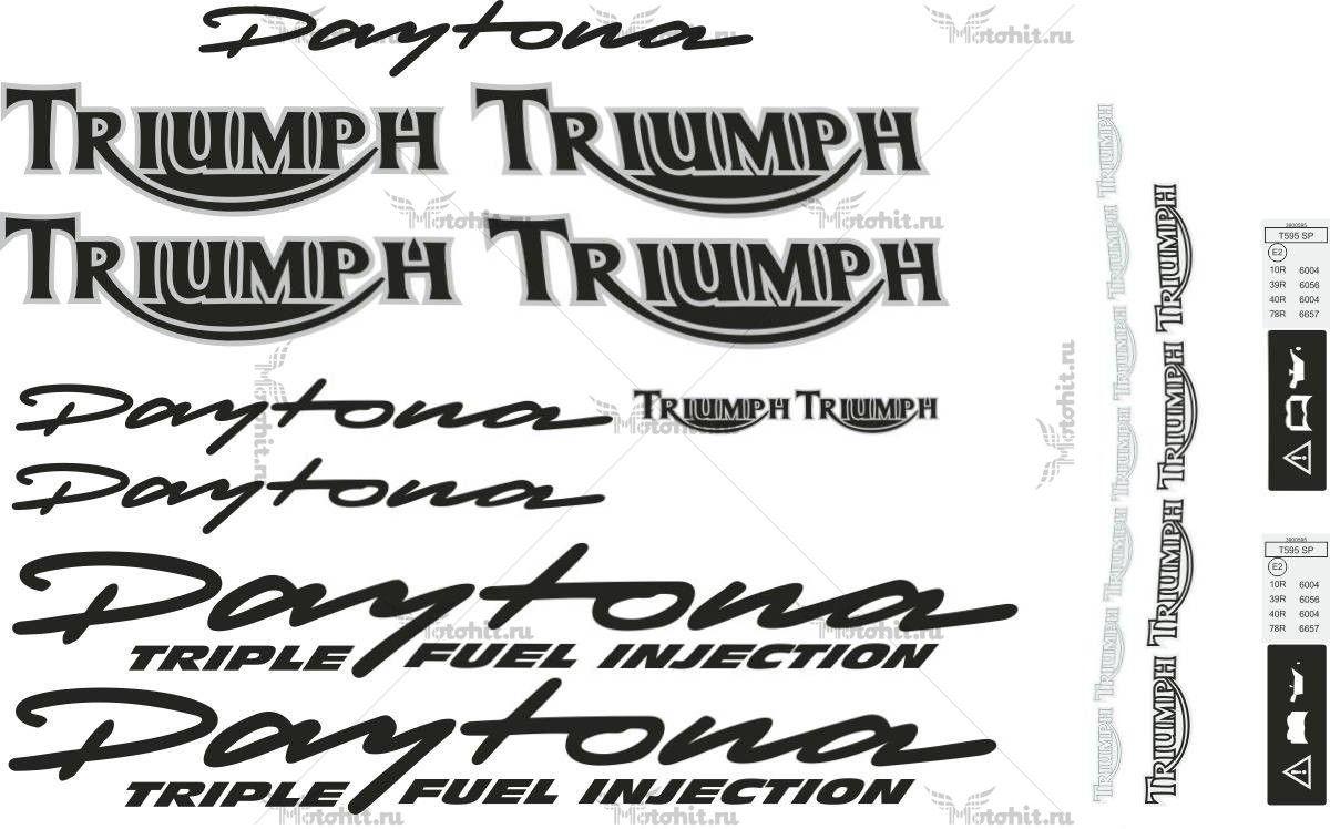 Комплект наклеек TRIUMPH DAYTONA