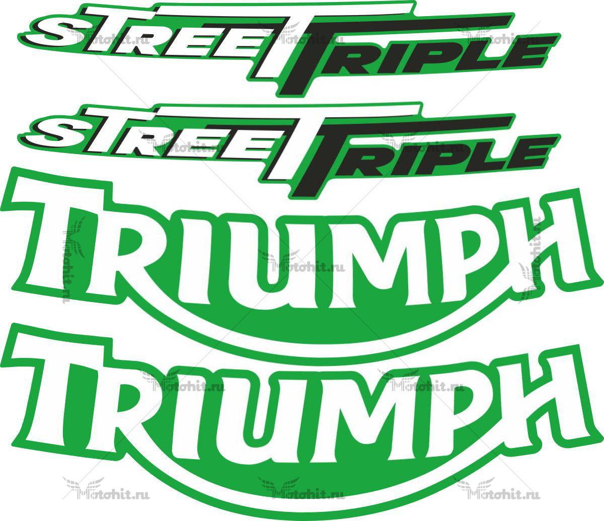 Комплект наклеек TRIUMPH STREET3