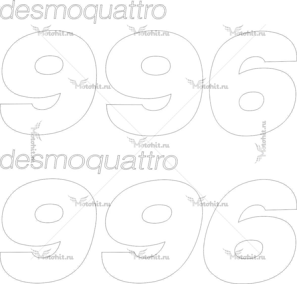 Наклейка DUCATI-996