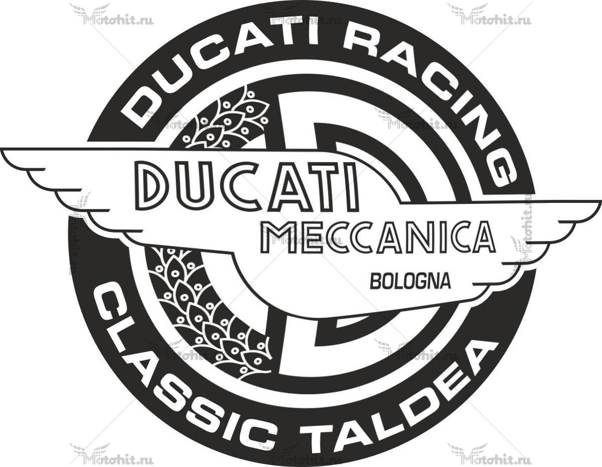 Наклейка DUCATI RACING-CLASSIC-TALDEA-BW