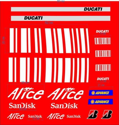 Комплект наклеек DUCATI ALICE