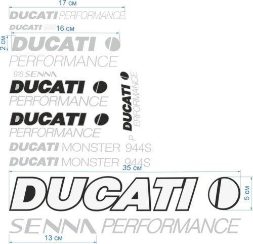 Комплект наклеек DUCATI PERFORMANCE
