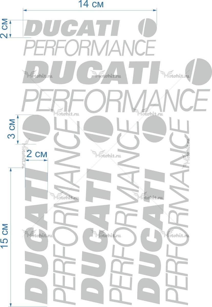 Комплект наклеек DUCATI PERFORMANCE-PROMO