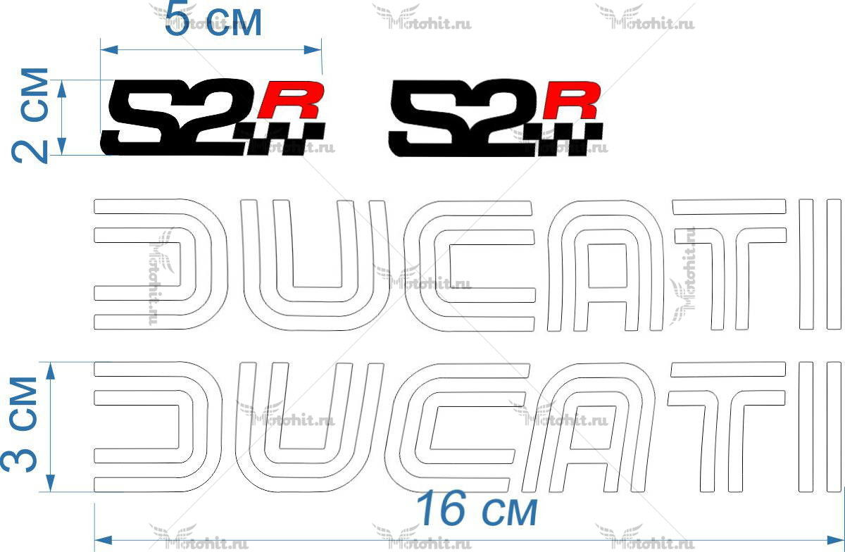 Комплект наклеек DUCATI SR-2