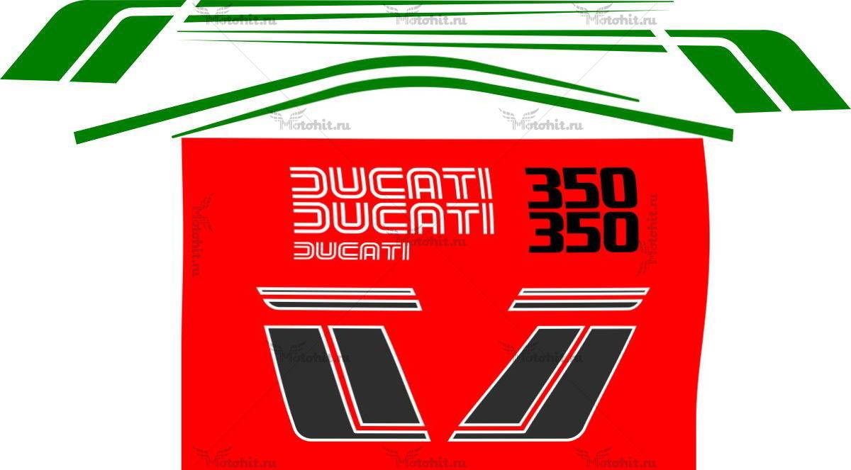 Комплект наклеек DUCATI-350-SL 1983-1985