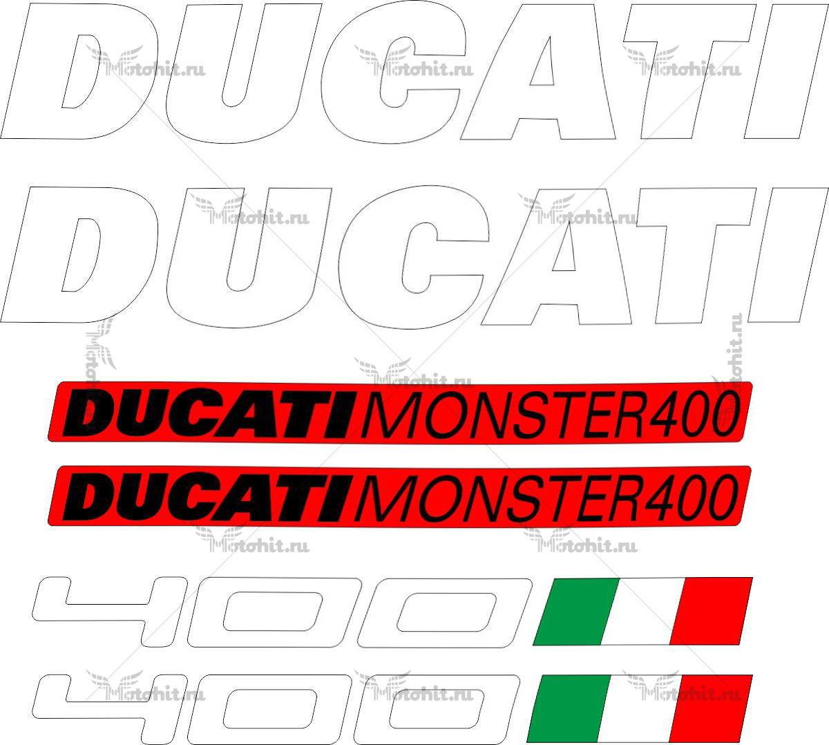 Комплект наклеек DUCATI-400