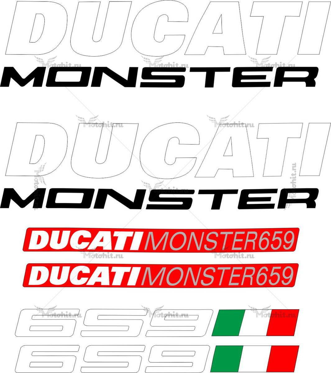 Комплект наклеек DUCATI-659