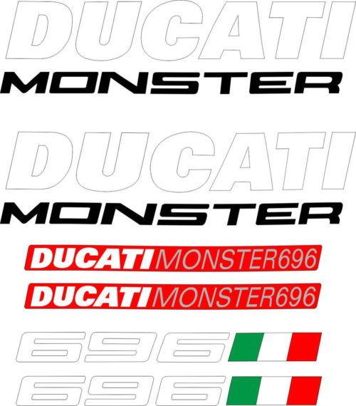 Комплект наклеек DUCATI-696
