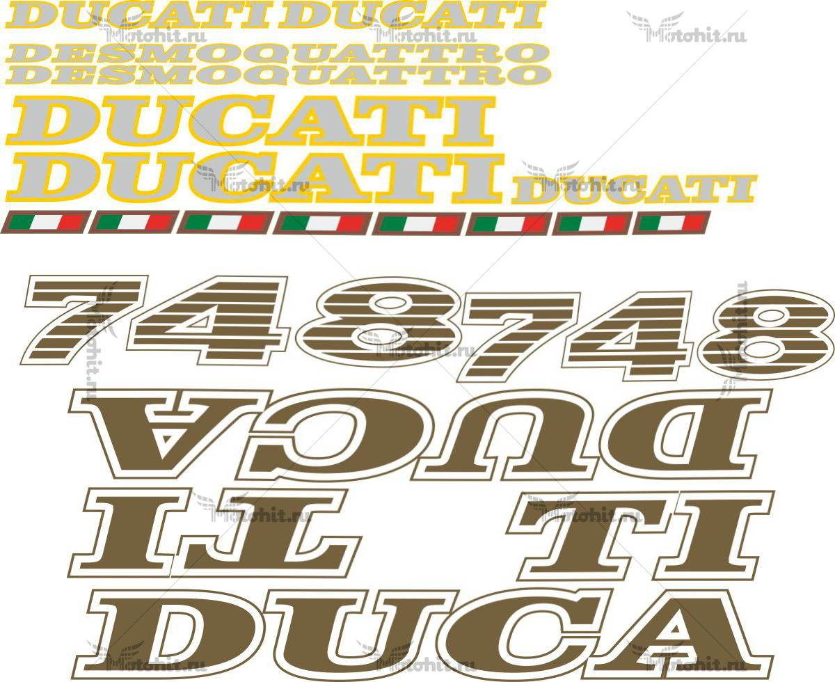 Комплект наклеек DUCATI-748