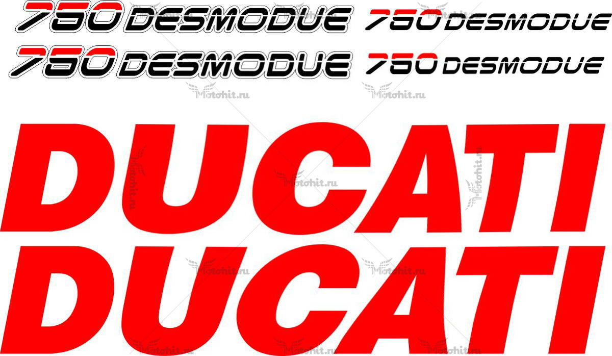 Комплект наклеек DUCATI-750 1995 DESMOQUE