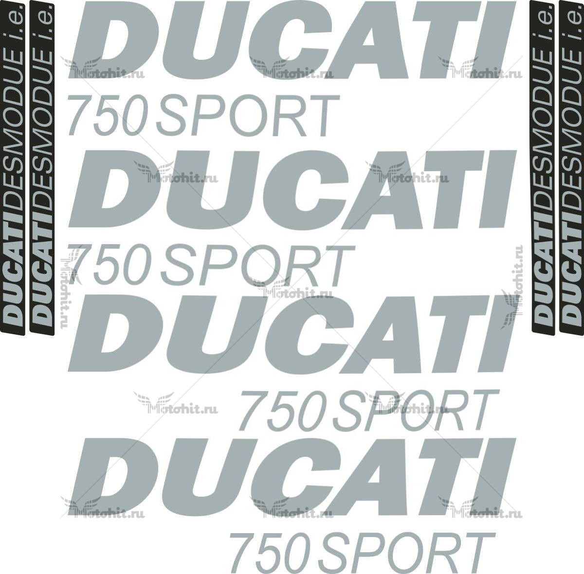 Комплект наклеек DUCATI-750 2001 SPORT