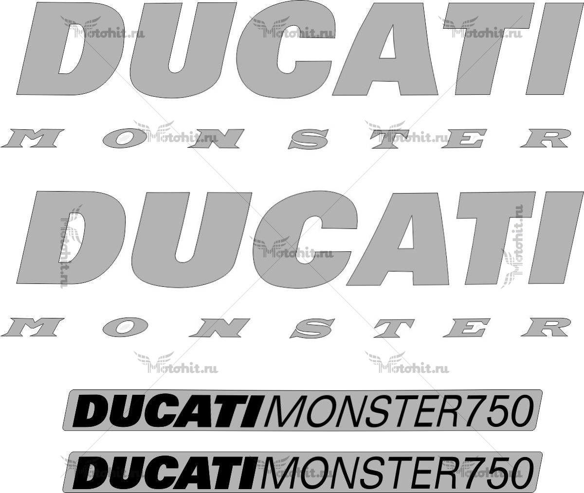 Комплект наклеек DUCATI-750 MONSTER