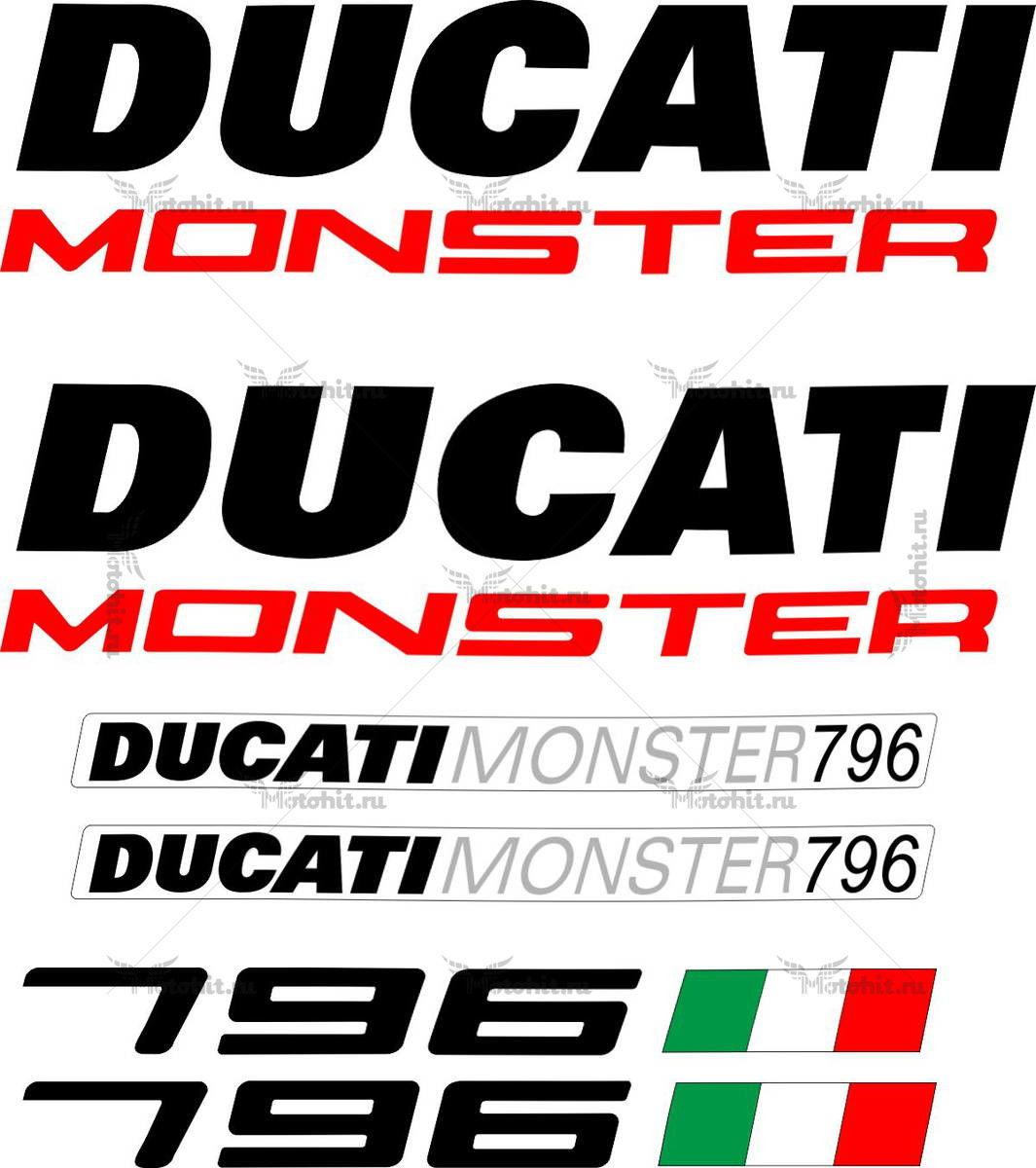 Комплект наклеек DUCATI-796
