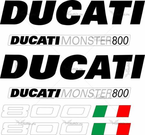 Комплект наклеек DUCATI-800