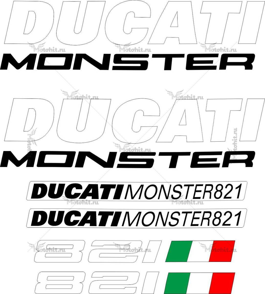 Комплект наклеек DUCATI-821