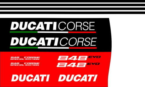 Комплект наклеек DUCATI-848 EVO