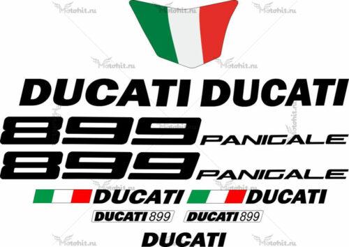 Комплект наклеек DUCATI-899 BLACK
