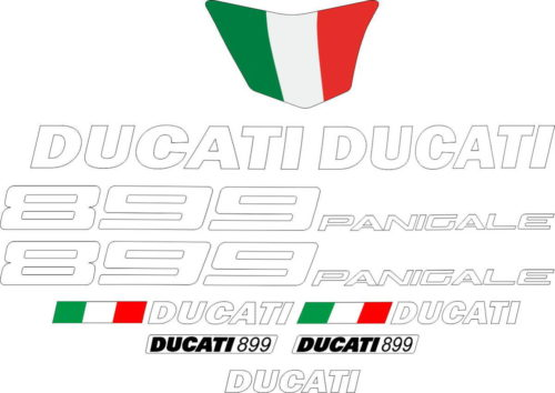 Комплект наклеек DUCATI-899 WHITE