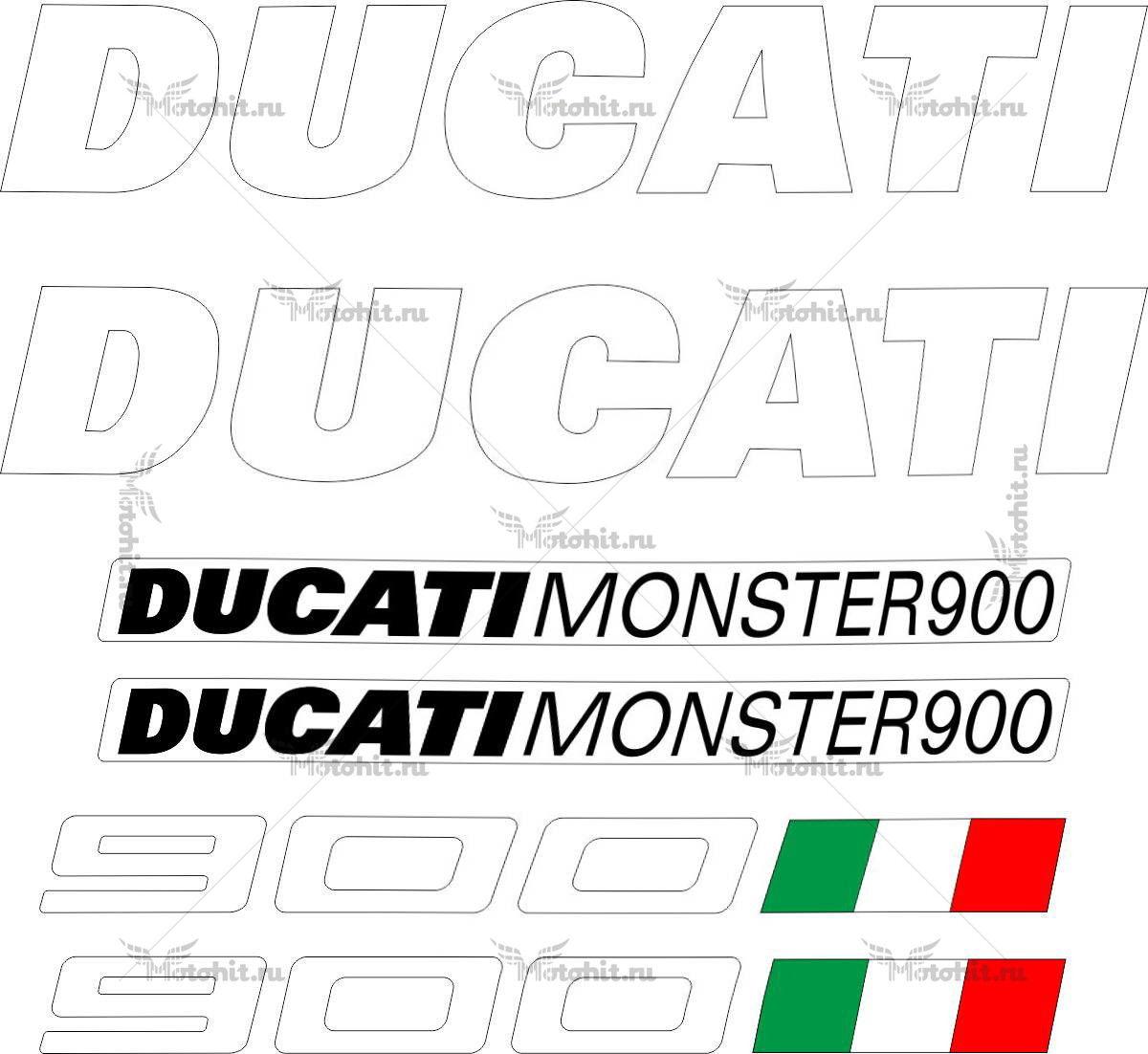 Комплект наклеек DUCATI-900