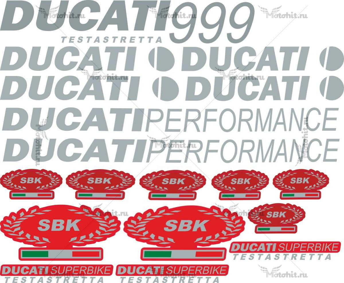 Комплект наклеек DUCATI-999