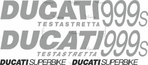 Комплект наклеек DUCATI-999-S