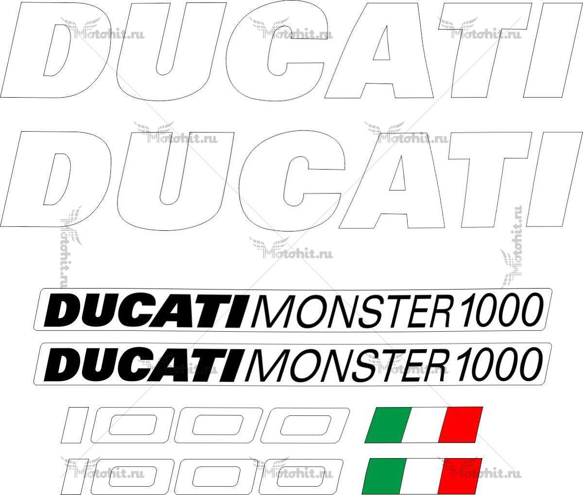 Комплект наклеек DUCATI 1000