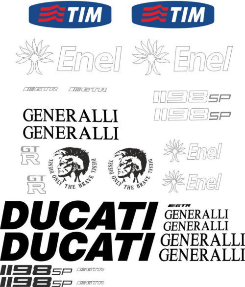 Комплект наклеек DUCATI 1198-GP 2012