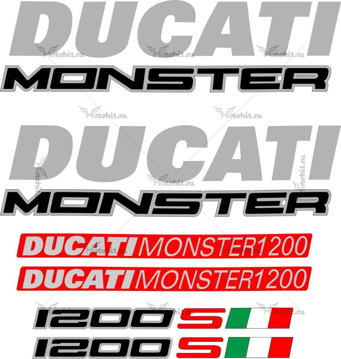 Комплект наклеек DUCATI 1200