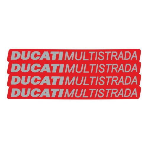 Комплект наклеек DUCATI MULTISTRADA-RED