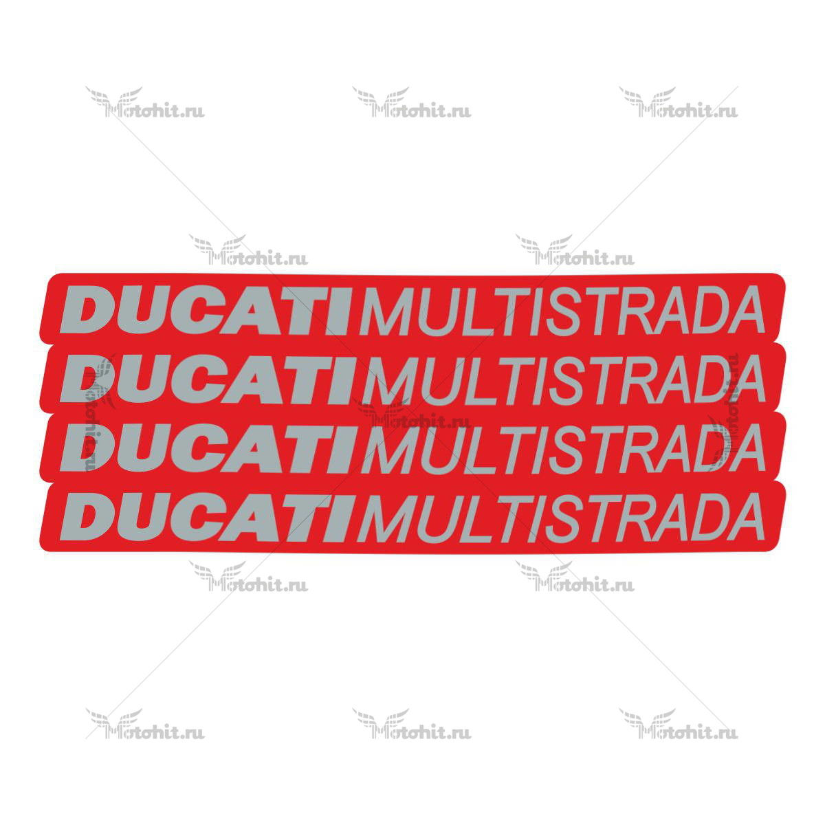 Комплект наклеек DUCATI MULTISTRADA-RED