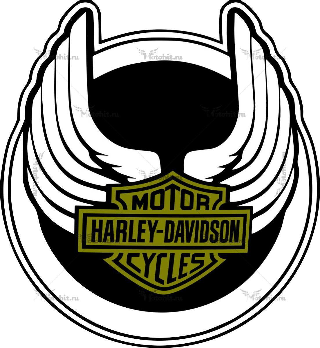 Наклейка HARLEY DAVIDSON 22-CIRCLE