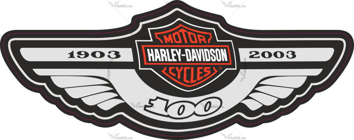 Наклейка HARLEY DAVIDSON 100-ANNIVERSARY